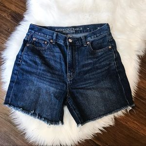 🌸 AMERICAN EAGLE Mom Jeans Shorts Frayed Summer 4